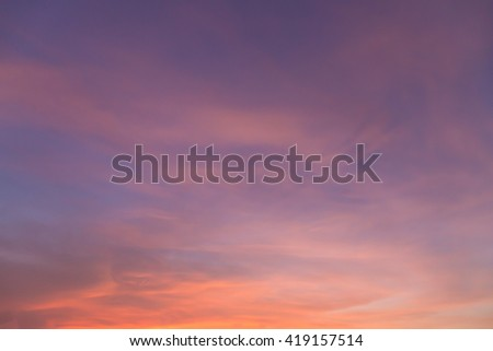 Dramatic - Beautiful Sun sky and cloudy background. - stock photo