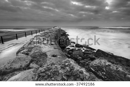 Dramatic Black and White Seascape