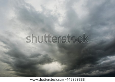 Dramatic black clouds befor rainy - stock photo