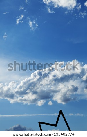 Dramatic blue cloudy sky above Gorlitzer park in east Berlin, Germany. - stock photo