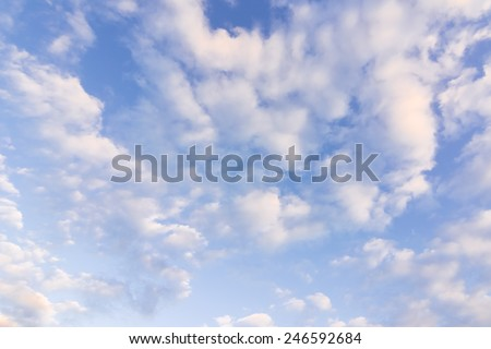 dramatic cloud over the sky with copyspace - stock photo