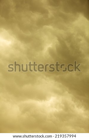 Dramatic cloudscape. Dark stormy clouds covering the sky as nature background. Meteorology. - stock photo