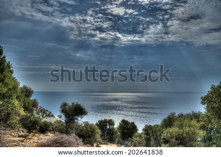 dramatic cloudy sky - stock photo