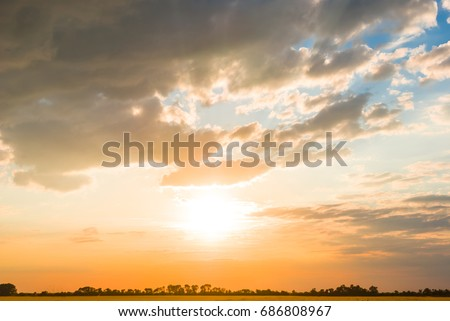dramatic evening sky background