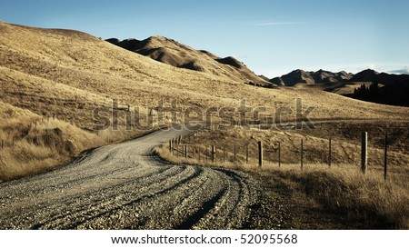 Dramatic landscapes are a feature of Marlborough in New Zealand's south island - stock photo