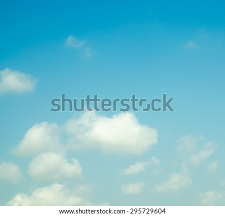 dramatic moody sky with cloud - stock photo