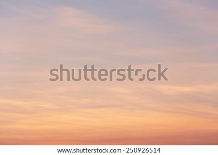 Dramatic orange sky - stock photo