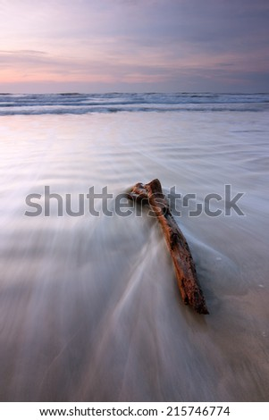 Dramatic seascape at Kuala Penyu, Sabah, Malaysia, Borneo - stock photo