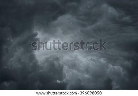 Dramatic sky background with copy space - stock photo