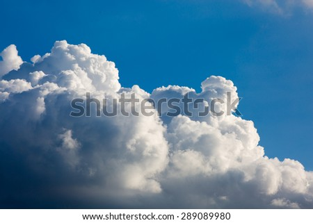 Dramatic sky before storm. Dark ominous clouds. - stock photo