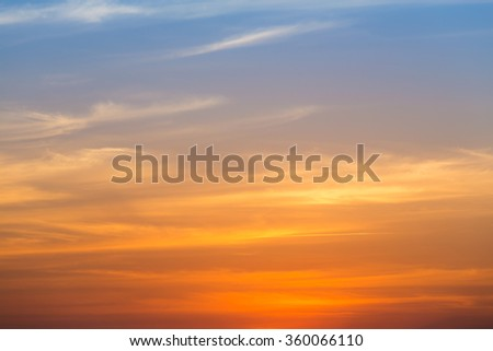 Dramatic Sky during sunset natural background - stock photo