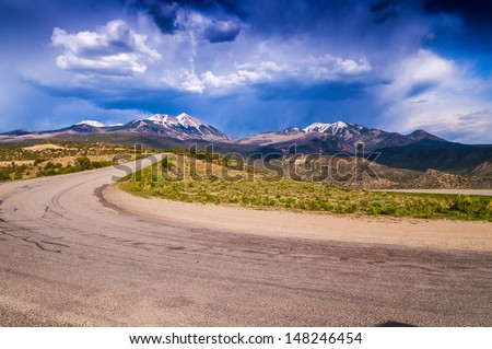 Dramatic Sky over the La Sal Mountains