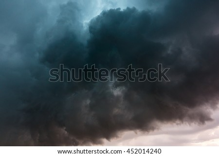 Dramatic storm clouds