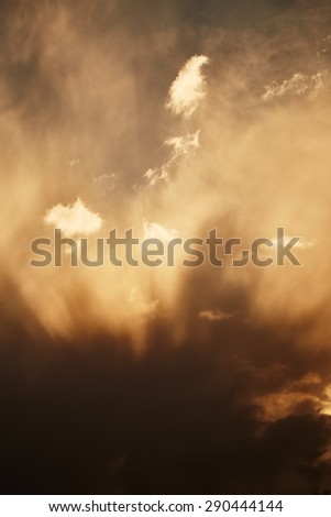 Dramatic stormy sky. Nature background - stock photo