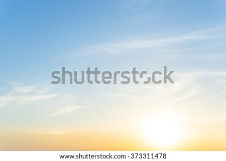 dramatic sunset evening sky background - stock photo