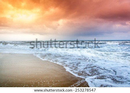 Dramatic Sunset on the Beach