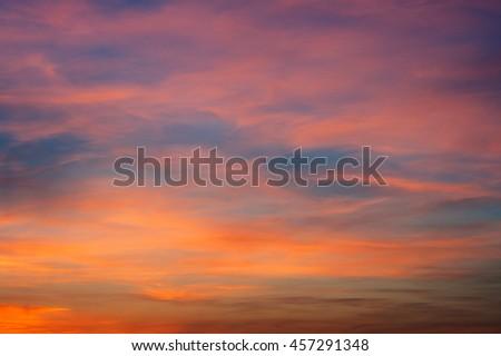 dramatic sunset sky background  - stock photo