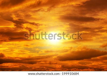 dramatic sunset with cloudscape