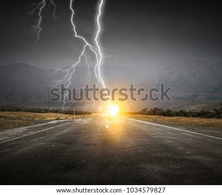 Dramatic thunder background