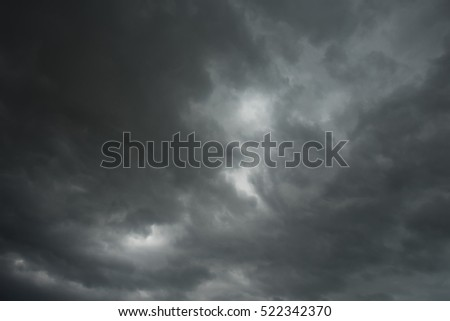 Dramatic thunder storm clouds in summer