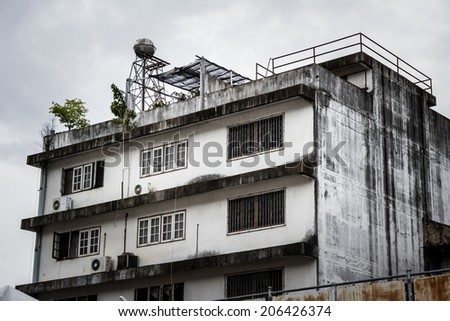 Dramatic View of an old building in Chiang Mai, Thailand - stock photo
