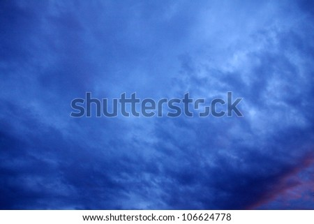 Dramatically cloudy Sky
