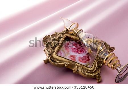drape of the satin - stock photo