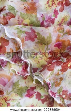 Draped ornamental chiffon as a background - stock photo
