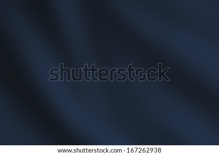 Draping satin fabric in dark blue hue. - stock photo