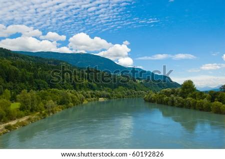 Drava river - stock photo