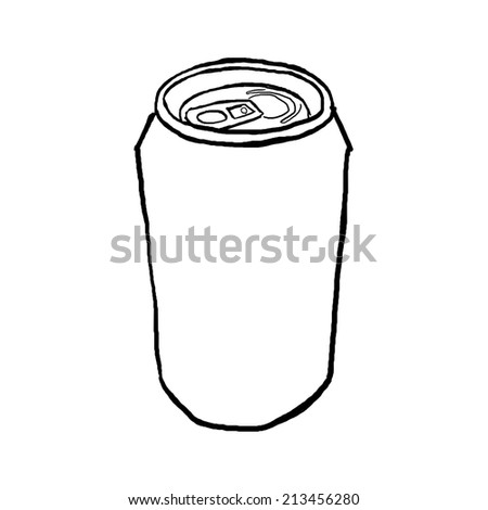 Draw can - stock photo