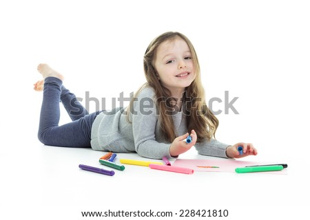 Draw little girl