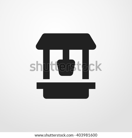 draw-well icon - stock photo