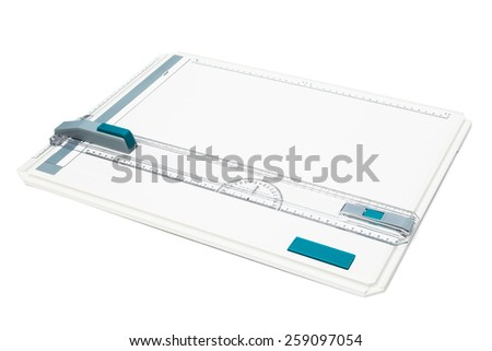 drawing board on a white background - stock photo