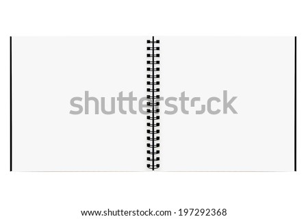 Drawing book   isolated on white background - stock photo