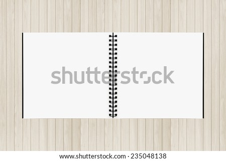 Drawing book on Wood background