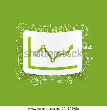 Drawing business formulas: chart - stock photo