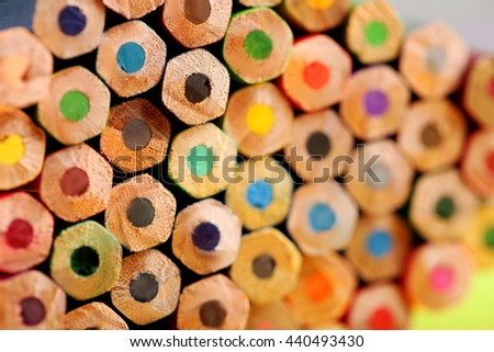 Drawing colourful pencils background, close up - stock photo