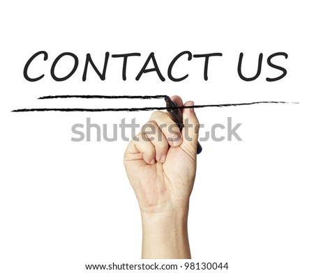 Drawing contact us - stock photo