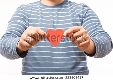 drawing image heart in hand