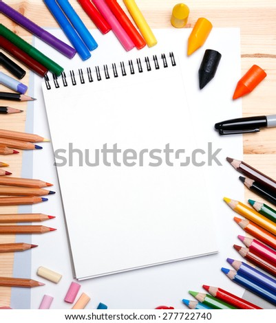 drawing materials - stock photo
