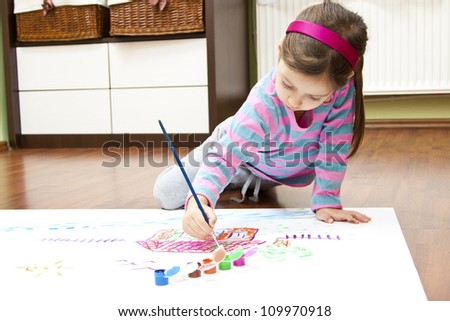 drawing my dream house - stock photo