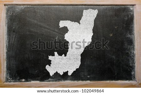 drawing of congo on blackboard, drawn by chalk