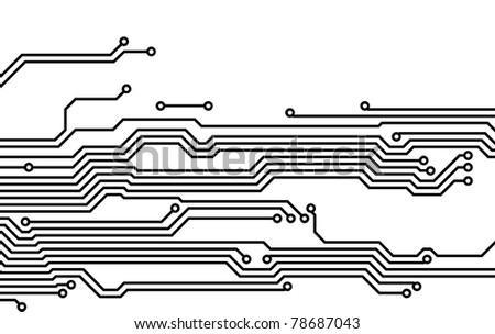 Drawing PCB (printed circuits board) - stock photo