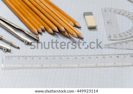 drawing start - stock photo