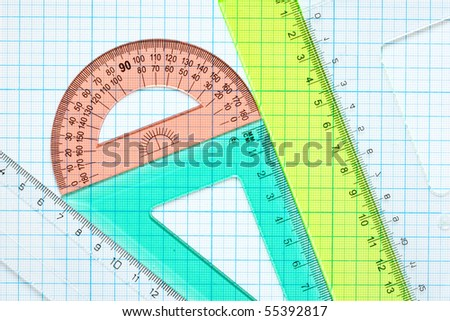 drawing tools background - stock photo