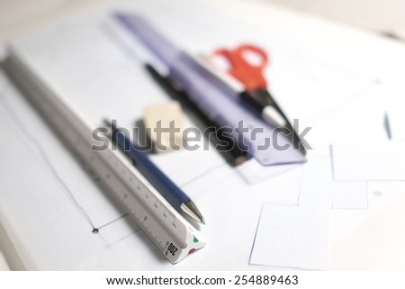 drawing tools with focus on scale ruler