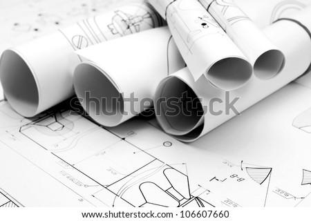 Drawings. - stock photo