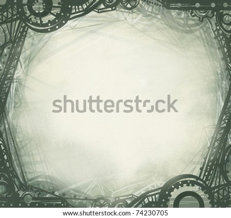 Drawn industrial style frame - stock photo