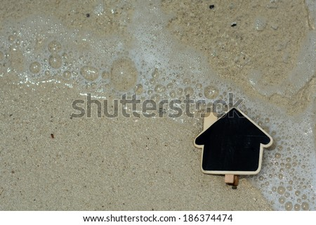 Dream beach house concept - stock photo